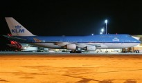 KLM at Curacao airport