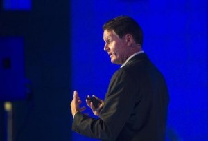 eBay Inc President and CEO Donahoe speaks during a hi-tech industry conference in Jerusalem