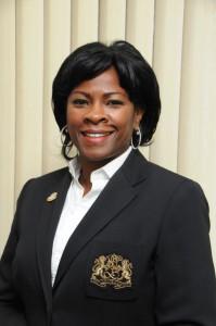 President of Parliament Gracita Arrindell