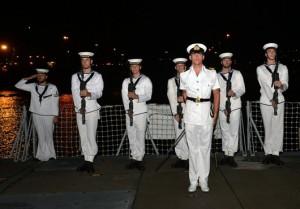 HMS-Lancaster-Leaves-Curacao