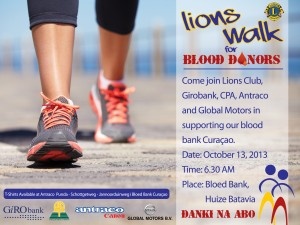 Lions Walk for Blood Donors 2013