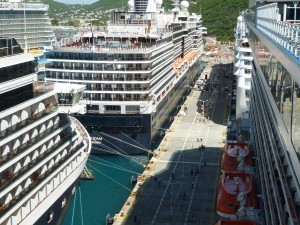 Looking from the deck of the Royal Princess