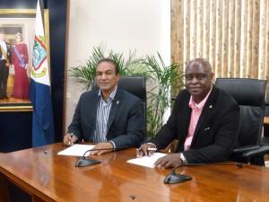 MinTEATT Curacao Minister Hon Stanley Palm and Sint Maarten Minister Hon Ted Richardson