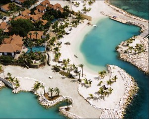 Baoase resort from heli