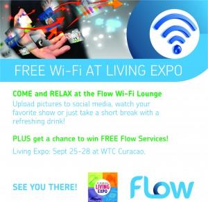 Living Wi Fi Expo Curacao newpaper 15cm x15cm FAW
