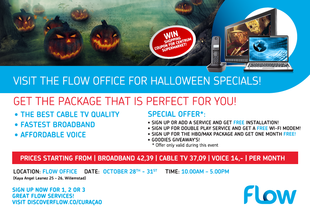 Halloween Treats at the Flow Office - Curaçao Chronicle
