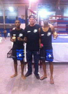Aruba November 8 2014, Edwin Baas with Irving Francisca (left) and Grego Scharbaai (right) with their 1st place trophies (3)