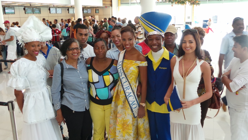 Miss Curaçao on her way to Miss Universe 2015 - Curaçao