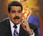 Venezuela's President Nicolas Maduro speaks during a news conference at Miraflores Palace in Caracas