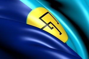 Caribbean Community (CARICOM) Flag. Close Up. Front view.