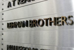 A view of a building directory where Lehman Brothers is listed in Sydney