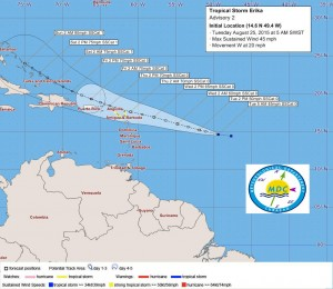 2015-0825-csn-bq-eux-sab-mdc-tropical-storm-erika-forms-5am