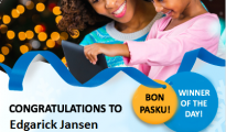 DAILY WINNER Edgarick Jansen