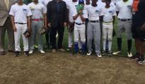 Amb Broas ACG Kanga with players at CBW