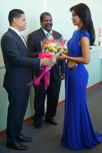 Resepshon di Bon Bini pa Miss Universe Curaçao 2015, srta. Kanisha Sluis-1L