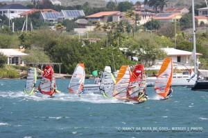 1 Slalom race in action @ Spanish Water Nov 15-2015
