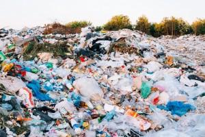Junkyard Of Domestic Garbage In Landfill