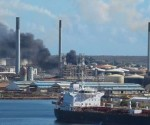 oil refinery fire