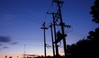 Electric Network Pillar With Transformer
