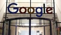 Google logo adorns entrance of Google Germany headquarters in Hamburg