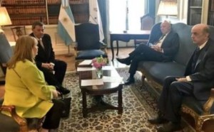 Brazilian Foreign Minister Jose Serra tweeted a picture of himself with the foreign ministers of Argentina, Paraguay and Uruguay.
