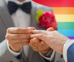 people, homosexuality, same-sex marriage and love concept - clos