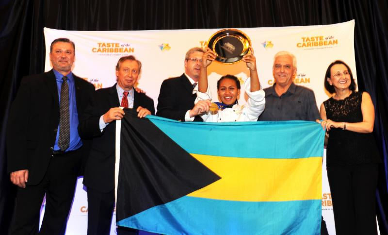 Caribbean Junior Chef of the Year, Kenria Taylor of The Bahamas