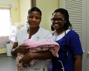 Anguilla health proffesionals and baby