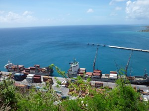 Two cargo ships post Irma Port SXM