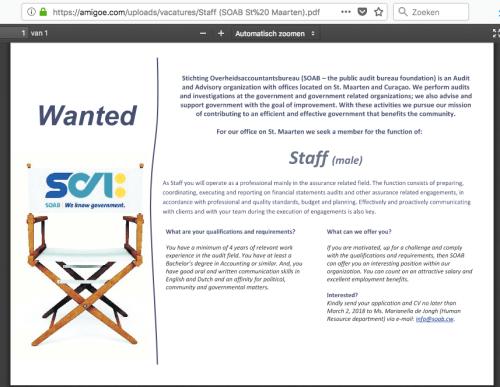 Staff (SOAB St Maarten) Male | Amigoe 20180121