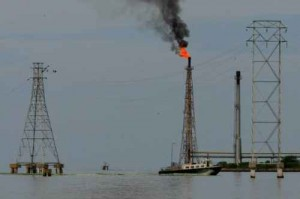 Oil installations Maracaibo