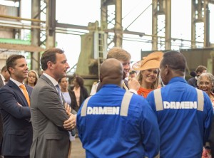 Royal visit to Damen Shiprepair Curacao (2)_lowres