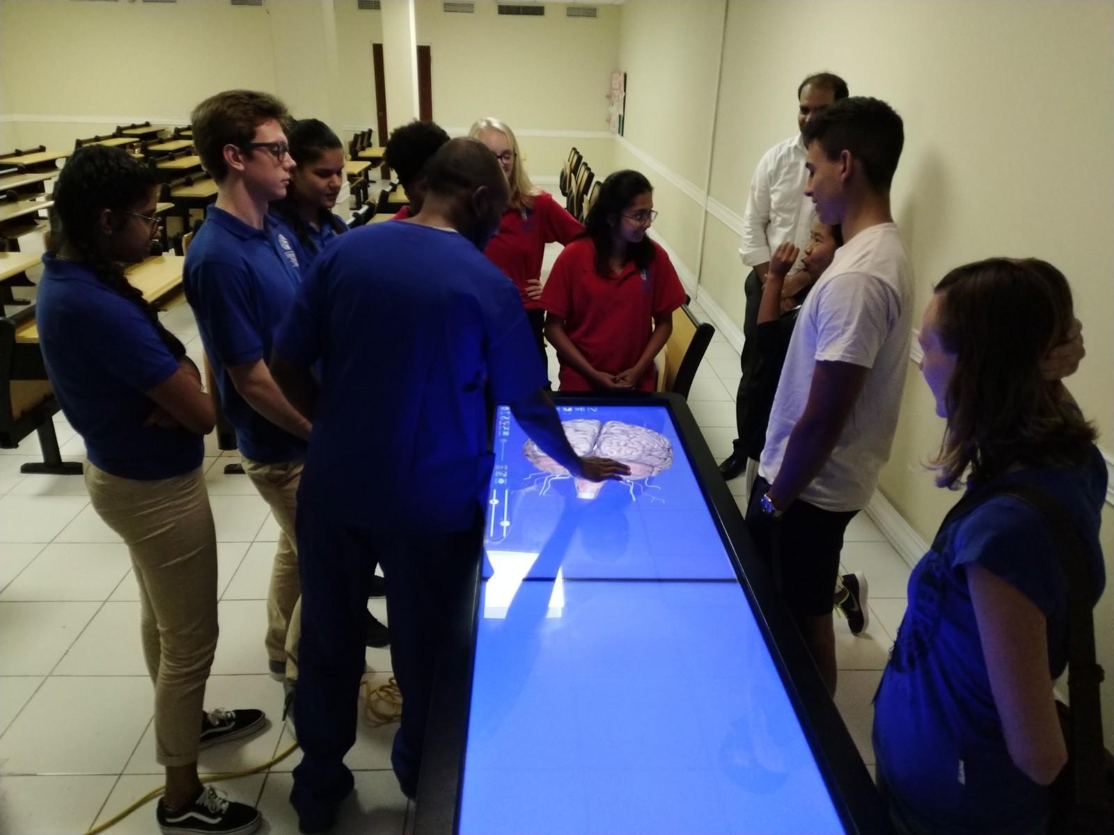 International School visits Caribbean Medical University