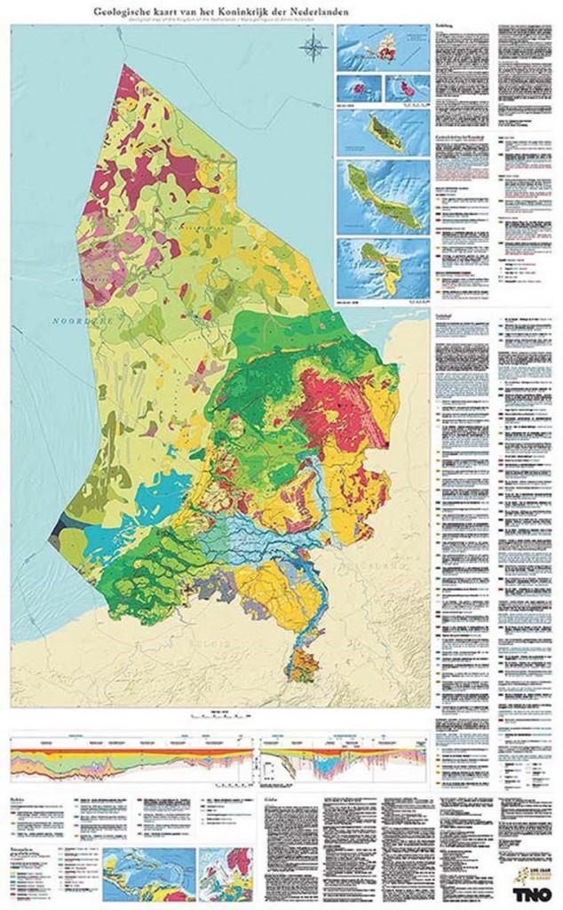 geologische-kaart-map-Koninkrijk-der-Nederlanden