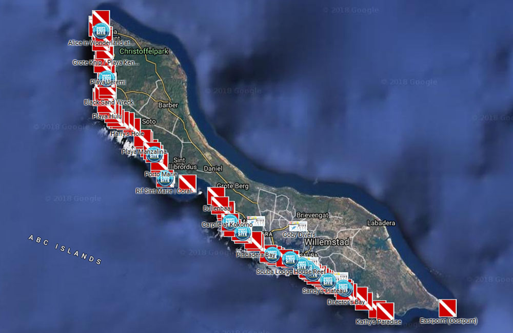 curacao_dive_site_map