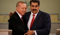 Turkish President Tayyip Erdogan and Venezuela's President Nicolas Maduro attend a news conference in Caracas
